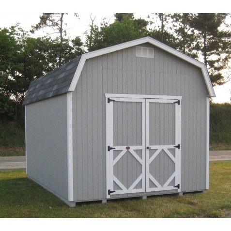 Little Cottage Company Classic Gambrel Barn 6' DIY Kit 10' x 18' Storage Shed Kit with 6' Side Walls (10X18 CWGB-6-WPNK)