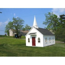 Little Cottage Company Chapel 8' x 8' Playhouse Kit (8x8 LCC-WPNK)