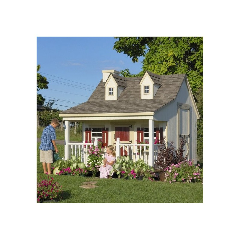 Little Cottage Company Pennfield 11' x 10' Playhouse Kit (11x10 PC-WPNK)