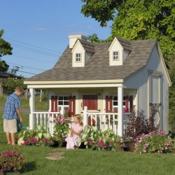 Little Cottage Company Pennfield 11' x 12' Playhouse Kit (11x12 PC-WPNK)