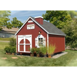 Little Cottage Company Firehouse 8' x 12' Playhouse Kit (8x12 FHP-WPNK)