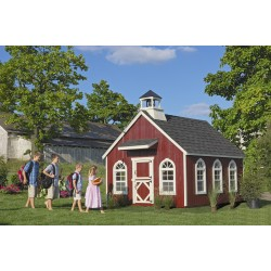 Little Cottage Company Stratford Schoolhouse 8' x 10' Playhouse Kit (8X12 SSH-WPNK)