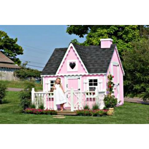 Little Cottage Company Victorian 8' x 10' Playhouse Kit (8X10 VP-WPNK)