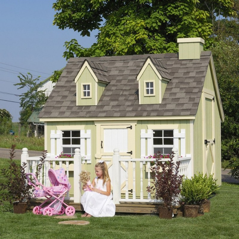 Little Cottage Company Cape Cod Playhouse Kit 8x10 (8X10 CCP-WPNK)