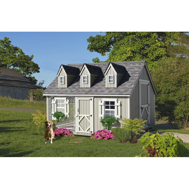 Little Cottage Company Cape Cod Cozy Kennel 8x10 Panelized Playhouse Kit (8x10 CCK-WDIY)