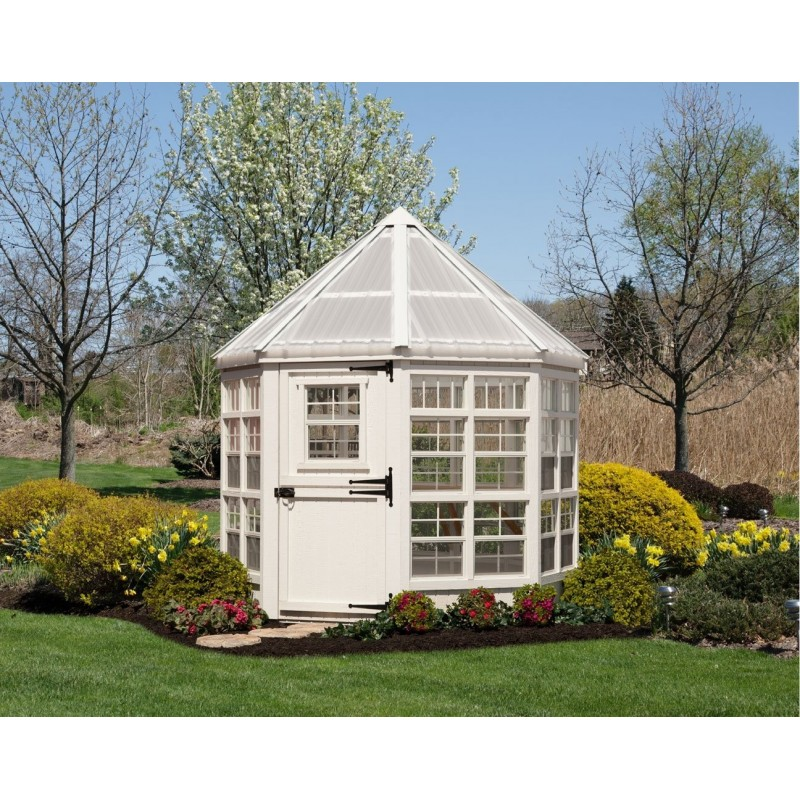 Little Cottage Company Octagon 8x8 Greenhouse with Floor Kit (8x8 LCOG-WPNK)