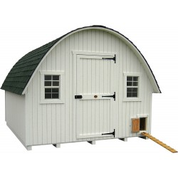 Little Cottage Company Round Roof Coop 10x14 Panelized Kit (10x14 RRCC-WPNK)