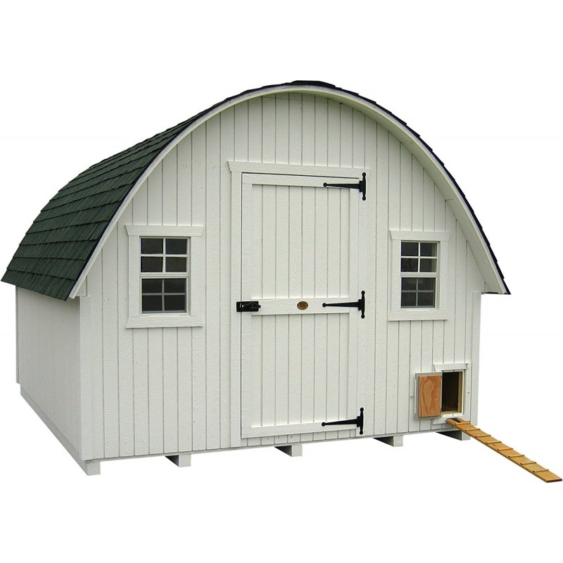 Little Cottage Company Round Roof Coop 10x16 Panelized Kit (10x16 RRCC-WPNK)