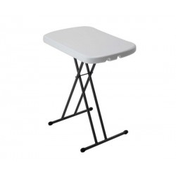 Lifetime Adjustable Height Personal Folding Table (White Granite) 80251