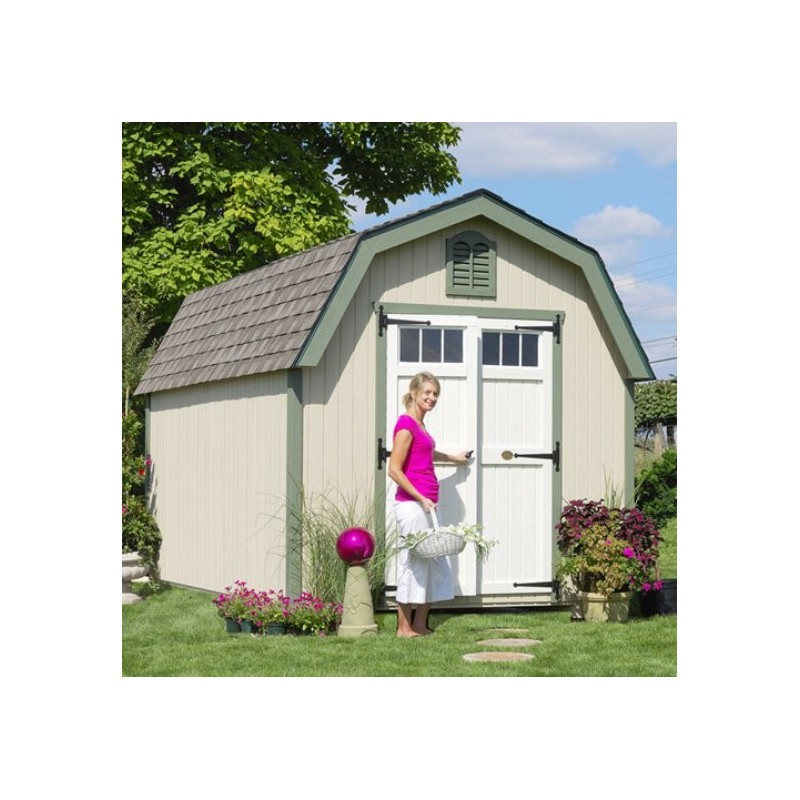 Little Cottage Company Colonial Greenfield 8' x 10' Storage Shed Kit (8X10 GCGS-WPNK)