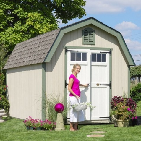 Little Cottage Company Colonial Greenfield 10' x 16' Storage Shed Kit (10X16 GCGS-WPNK)