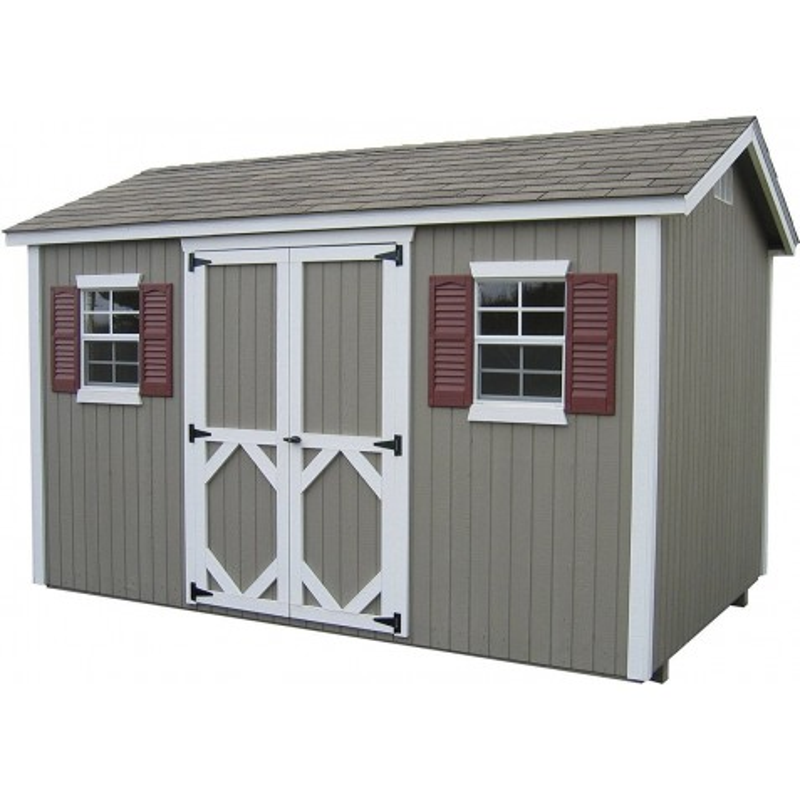 Little Cottage Company Classic Workshop 10' x 16' Storage Shed Kit (10X16 CWWS-WPNK)