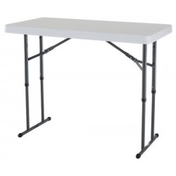 Lifetime 4 ft. Commercial Adjustable Height Folding Table (White) 80160
