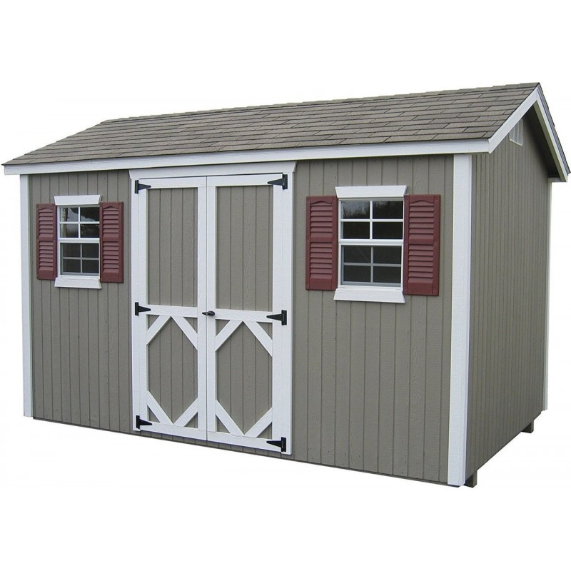 Little Cottage Company Classic Workshop 10' x 10' Storage Shed Kit (10X10 CWWS-WPNK)