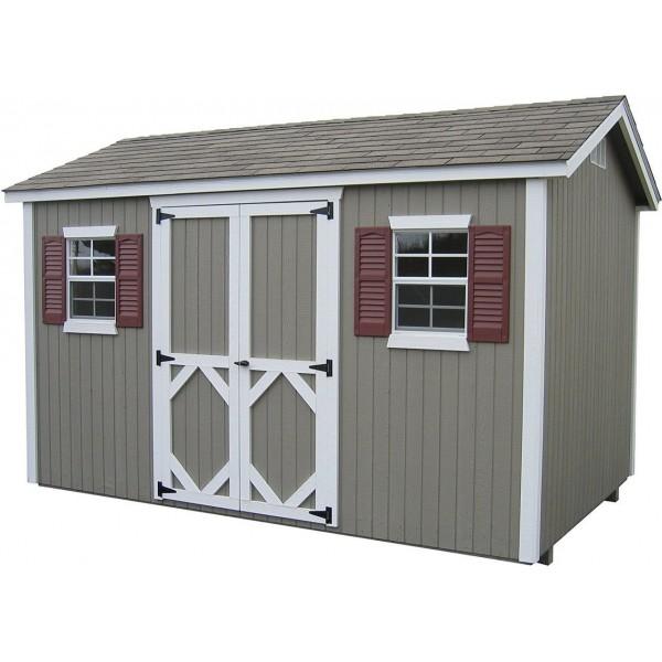 Little Cottage Company Classic Workshop 12u0027 X 12u0027 Storage Shed Kit (12X12  CWWS WPNK)