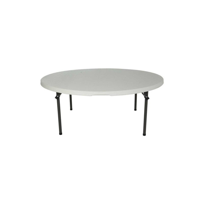 Lifetime 60-Inch Round Commercial Stacking Folding Table 15-pack (white granite) 880301