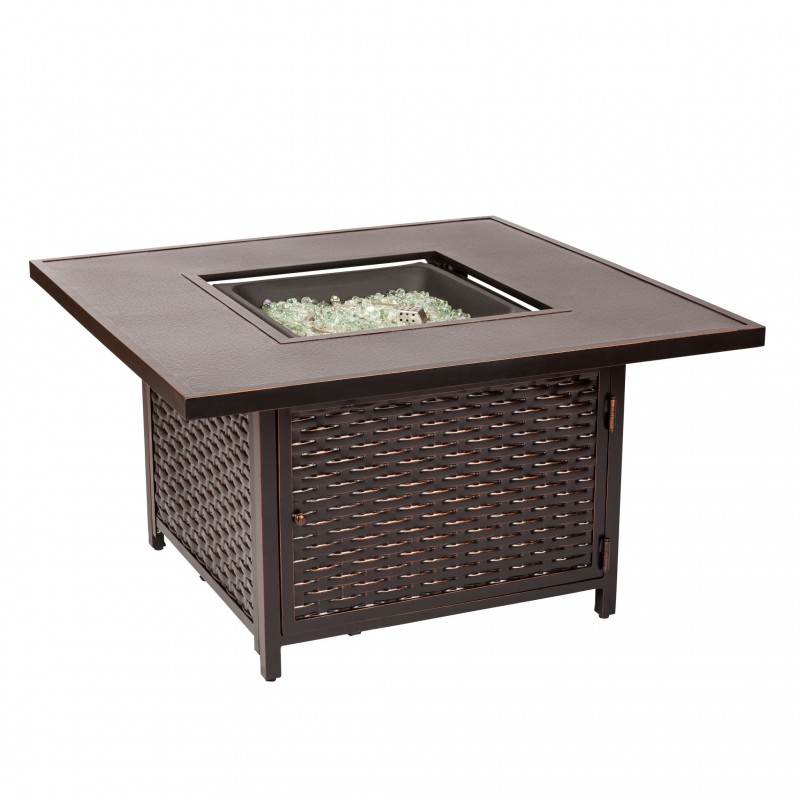 Fire Sense Baker Cast Aluminum LPG Fire Pit Table (62573)