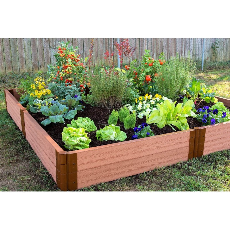 Frame It All 8x8ft Raised Garden Bed - 1in Thick - 2 Level (300001068)