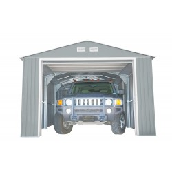 DuraMax 12x20 Light Grey Imperial Metal Storage Garage Building Kit (50952)