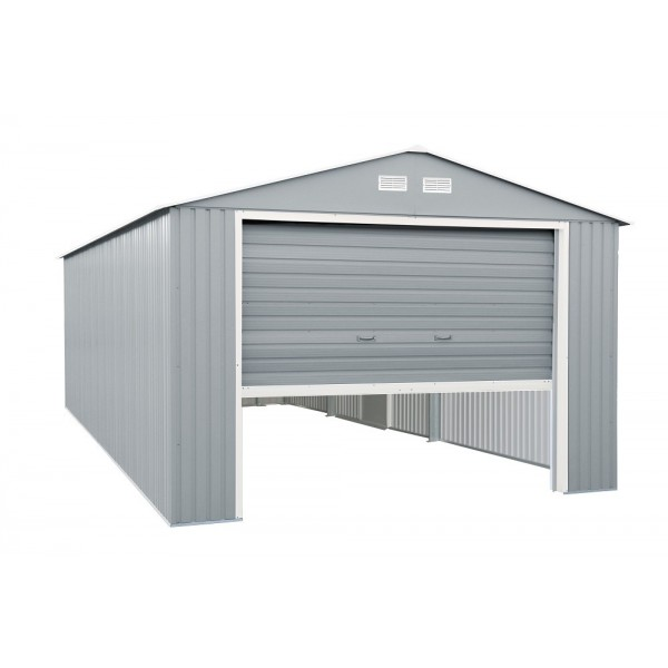 Duramax 12x20 Light Grey Imperial Metal Storage Garage