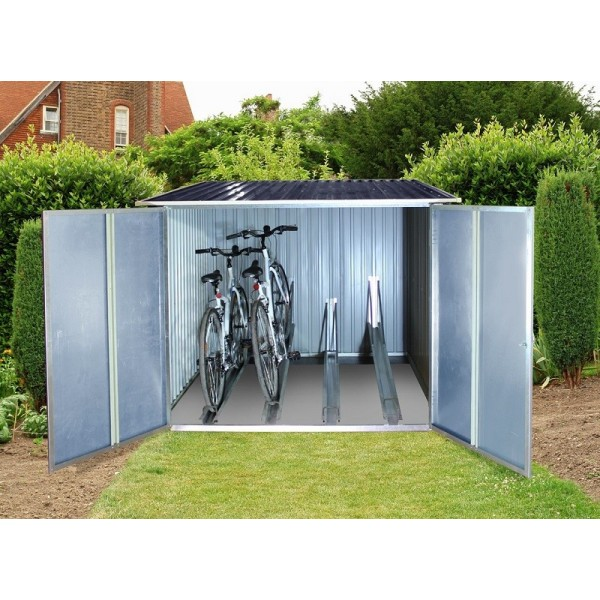 sc 1 st  KitSuperStore.com & Duramax Bicycle Storage Shed Kit - Anthracite w/ White Trim (73051)