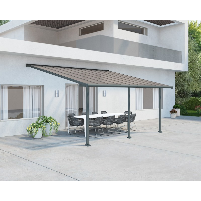 Palram 10x18 Olympia Patio Cover Kit - Gray Bronze (HG8818)