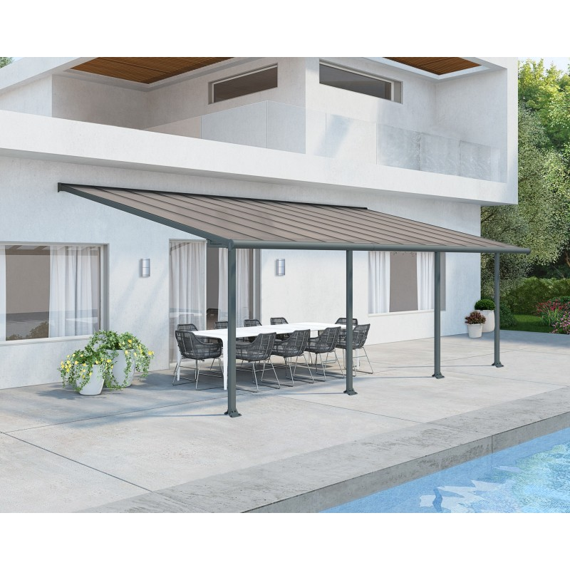Palram 10x28 Olympia Patio Cover Kit - Gray Bronze (HG8828)