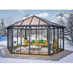 Palram 19.5x17 Closed Garden Gazebo Kit (HG9185)