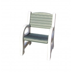 Duramax Single Seat Garden Bench White w/ Sacramento Green (84079)