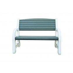 Duramax Double Seat Garden Bench White w/ Sacramento Green (84078)