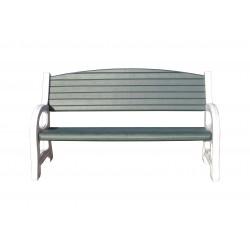 Duramax Triple Seat Garden Bench White w/ Sacramento Green (84077)