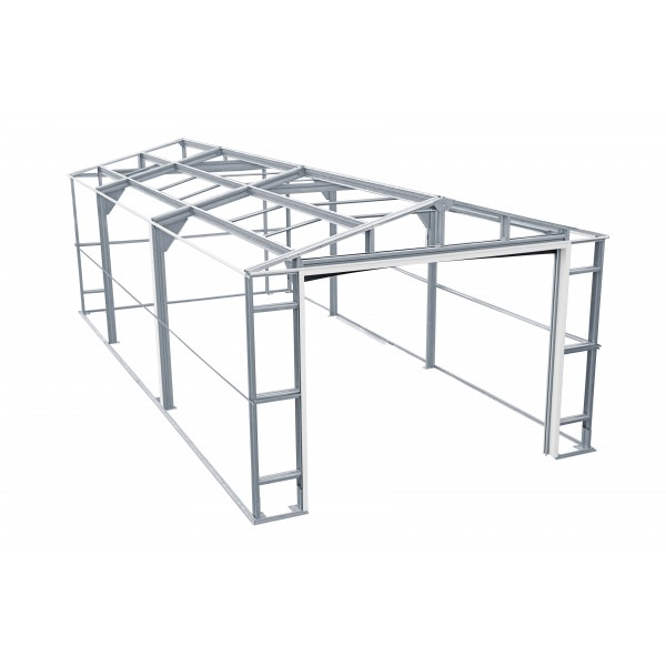 duramax 12x26 light grey imperial metal storage garage