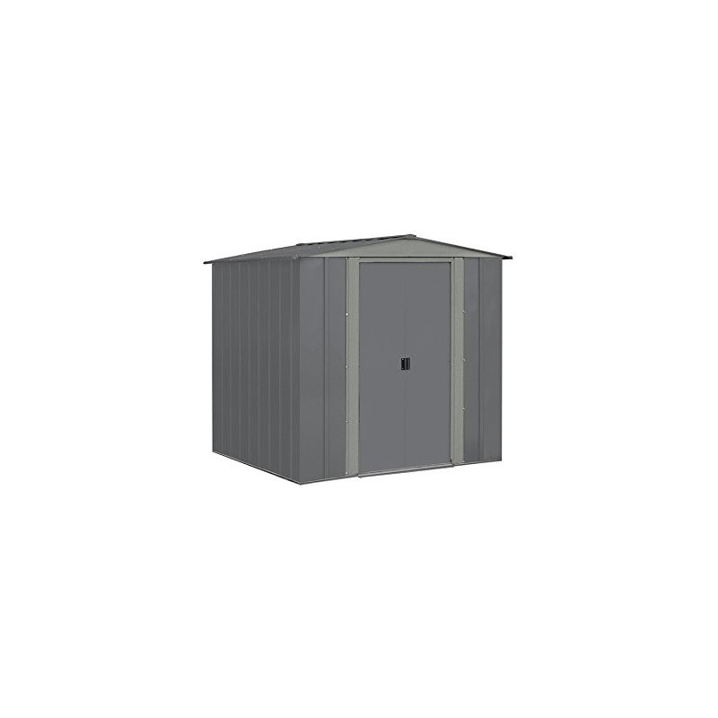 Arrow 6x7 Steel Storage Shed Kit - Grey (BRD6767GA)