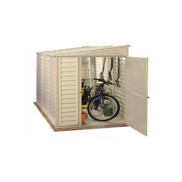 Duramax 4x8 Sidemate Vinyl Shed With Foundation Kit 06625