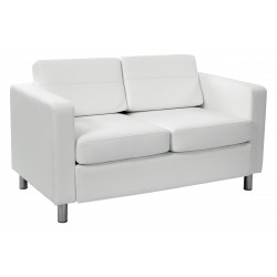 OSP Designs Pacific Love Seat - White (PAC52-R101)