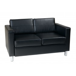 OSP Designs Pacific Love Seat - Black (PAC52-V18)