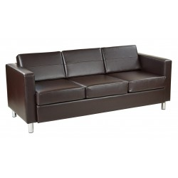 OSP Designs Pacific Sofa Couch - Black (PAC53-V18)