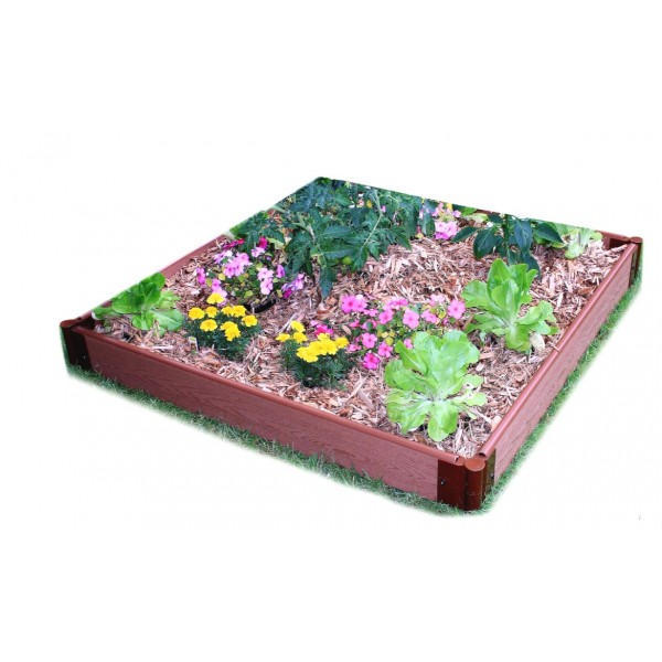 Frame It All Classic Sienna Raised Garden Bed 4x4 1in