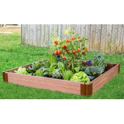 """Frame It All 4' x 4' x 5.5"""" Classic Sienna Raised Garden Bed - 1"""" profile (300001058)"""