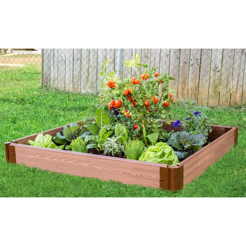 Frame It All Classic Sienna Raised Garden Bed 4x4x5.5 - 1in profile (300001058)