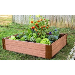 """Frame It All 4' x 4' x 11"""" Classic Sienna Raised Garden Bed - 1"""" profile (300001061)"""