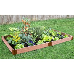 "Frame It All 4' x 8' x 5.5"" Classic Sienna Raised Garden Bed - 1"" profile (300001063)"