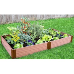 """Frame It All 4' x 8' x 11"""" Classic Sienna Raised Garden Bed - 1"""" profile (300001064)"""