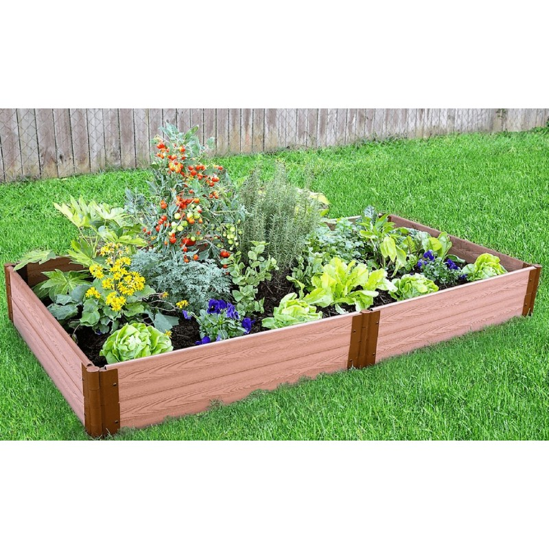 "Frame It All 4' x 8' x 11"" Classic Sienna Raised Garden Bed - 1"" profile (300001064)"