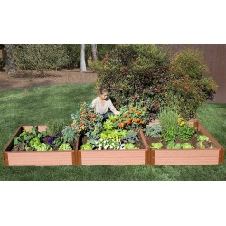 "Frame It All 4' x 12' x 11"" Classic Sienna Raised Garden Bed - 2"" profile (300001075)"