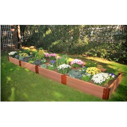 "Frame It All 4' x 16' x 11"" Classic Sienna Raised Garden Bed - 2"" profile (300001078)"