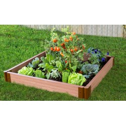 "Frame It All 4' x 4' x 5.5"" Classic Sienna Raised Garden Bed - 2"" profile (300001080)"
