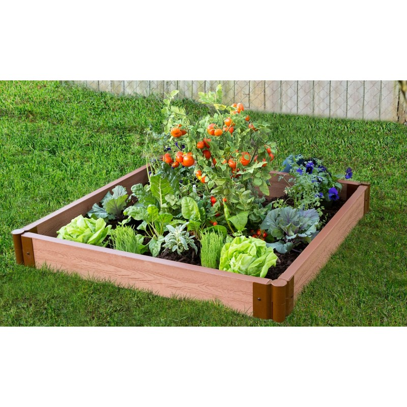 """Frame It All 4' x 4' x 5.5"""" Classic Sienna Raised Garden Bed - 2"""" profile (300001080)"""