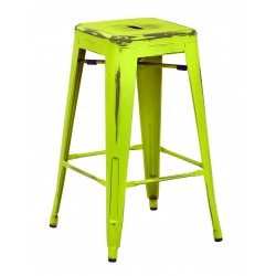 """OSP Designs Bristow 26"""" Antique Metal Barstool 2 pack - Antique Lime Finish (BRW3026A2-AL)"""