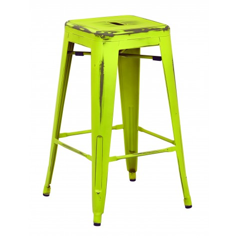 "OSP Designs Bristow 26"" Antique Metal Barstool 2 pack - Antique Lime Finish (BRW3026A2-AL)"